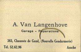 Asse :  A. Van Langenhove  ( Garage - Réparations )   Nouvelle Gendarmerie   Zie Scan Voor Detail - Asse