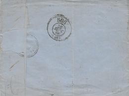 1866- Lettre D' Orléans  -au Dos, Cad Bureau De Passe 506 - 1849-1876: Période Classique