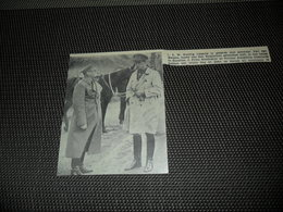 """Origineel Knipsel ( 2076 ) Uit Tijdschrift """" Ons Volk """"  1936 :  Leopoldsburg  Bourg - Léopold  Beverloo  Koning - Alte Papiere"""