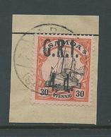 Samoa 1914 GRI 4d On 30pf  Kaiser's Yacht FU On Piece - Samoa