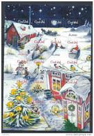 Feuille De Vignettes De Noël Des Iles Aland 2004 Neuve - Aland