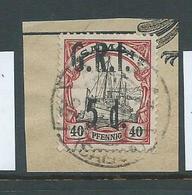 Samoa 1914 GRI 5d On 40pf  Kaiser's Yacht FU On Piece - Samoa