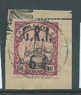 Samoa 1914 GRI 6d On 50pf  Kaiser's Yacht FU On Piece - Samoa