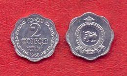 Ceylon, 2 Cents -1968.UNC. - Sri Lanka