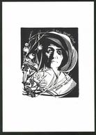 Exlibris Birgit Göbel, Portrait Alice Nahon - Exlibris