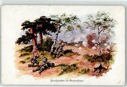 52923547 - Sign. Hoffmann Ad. Kind In Uniform Fernsprecher Im Granatfeuer - War 1914-18