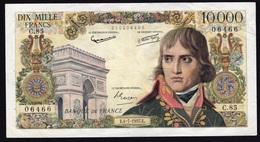 Billet 10000 F BONAPARTE 4-7-1957. Alp. C.85. No 06466. TTB+ - 1871-1952 Anciens Francs Circulés Au XXème