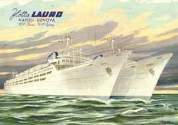 Flotta LAURO  NAPOLI  GENOVA   Roma  Sydney RV - Dampfer