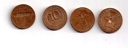 France -4 Pièces De 10 Francs-voir état - Monnaies & Billets