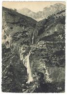 Route Du Col De La Cayolle Entre Entraunes Et Esteng, Cascade D'Eglière Circulée 1951 - Bon état - Autres Communes