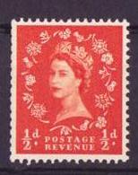 Grande Bretagne - Great Britain - Großbritannien 1955-57 Y&T N°287 - Michel N°282 *** - 0,5p Reine Elisabeth II - 1952-.... (Elizabeth II)