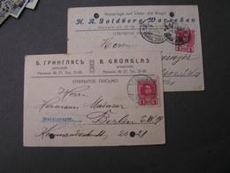 Warschava , 2 Alte Geschäftskarten 1914 - 1857-1916 Imperium