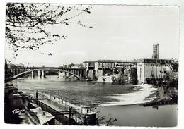 VILLENEUVE Sur LOT - Ponts Sur Le Lot Et Clocher De Ste Catherine - Circulée 1957 - Bon état - Villeneuve Sur Lot