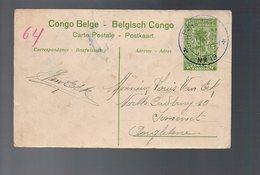 Congo - Entier Stibbe EP 42 VUE 13 - BPCVPK Nr 13 - 1917 Vers UK - WW1 En SM - R-   PL5 - Stamped Stationery