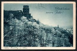 1858 - Schloß Heidelberg - Glückwunschkarte - Edmund Von König - Châteaux