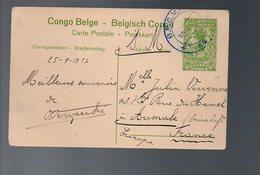 Congo - Entier Stibbe EP 42 VUE 44 - BPCVPK Nr 11 - 1917 Vers FRANCE - WW1 En SM - R-   PL5 - Stamped Stationery