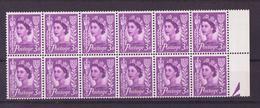 Grande Bretagne - Great Britain - Großbritannien 1958-67 Y&T N°325 - Michel N°2 *** - 3p Reine Elisabeth II Jersey Bande - 1952-.... (Elizabeth II)