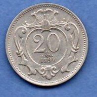 Autriche  -  20 Heller 1894   -  Km # 2803  -  état   TTB+ - Autriche