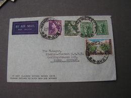 Australia , Nice Cv. Newcastle 1957 To Germany - 1952-65 Elizabeth II: Dezimalausgaben (Vorläufer)