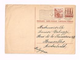 Entier Postal à 10 Centimes.Expédié De Lugano à Anderlecht (Belgique) - Entiers Postaux
