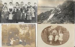 Lot N° 82 De 100 Cartes-photos à Identifier: Famille, Militaria, Groupes, Portraits, Communions, Lieux... - Cartes Postales