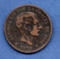Espagne -5 Centimos 1878 OM --   Km # 674  -  état   TB - [ 1] …-1931 : Royaume
