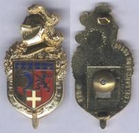 Insigne De La Compagnie De Circulation Routière De Gendarmerie Rhône Alpes ( Lion Argenté ) - Police & Gendarmerie