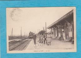 Mailly-le-Camp ( Aube ). - La Gare. - Arrivée Du Train. - Mailly-le-Camp