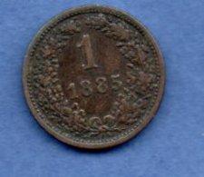 Autriche    - 1 Kreuzer 1885   --   Km # 2187   -  état   TTB - Autriche