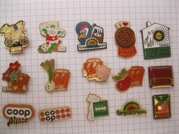 COOP  Lot De 15 Pin's - Pin's