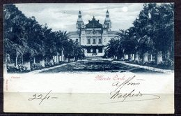 CARTOLINA CV2307 MONTECARLO Casino, 1901 Tipo Au Clair De Lune, Viaggiata Per L'Italia, Formato Piccolo, Francobollo Asp - Casinò