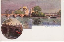 D61Paris, La Cite Et Le Pont Neuf (carte Postale D'une Peinture De Paul De Frick 1864-1935) - Paintings