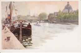D66Paris, La Seine Au Pont (carte Postale D'une Peinture De Paul De Frick 1864-1935) - Paintings