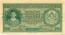 Bulgaria, 250 Leva, 1943, Kingdom Of Bulgaria, Bulgaria, Bulgarien Bulgarije, лева, Banque National De Bulgarie 3 - Bulgaria