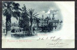 CARTOLINA CV2308 MONTECARLO Casino, 1899 Tipo Au Clair De Lune, Viaggiata Per L'Italia, Formato Piccolo, Francobollo Asp - Casinò