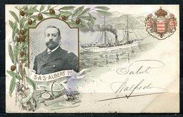 CARTOLINA CV2309 MONACO SAS Albert 1er, Tipo Gruss Aus, 1899 Viaggiata Per L'Italia, Formato Piccolo, Francobollo Asport - Altri