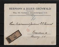 1920 ÖSTERREICH → R-Brief Von Wien Nach Dresden  ►Zensurbrief◄ - 1918-1945 1ère République