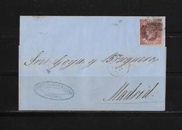 1863 SPANIEN → Brief Valencia Nach Madrid - Lettres & Documents
