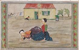 381721Rie Cramer ''Kinderdeuntje Uit Grootmoeders Tijd'' Het Regent, (poststempel 1924)(diverse Gebreken) - Illustrators & Photographers