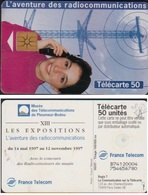 F747A TÉLÉCARTE 50 U PLEUMEUR RADIOCOM PUCE GEM1B 1997/06 - France