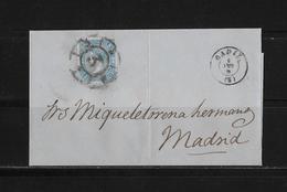 1866 SPANIEN → Brief Cadiz Nach Madrid - Lettres & Documents