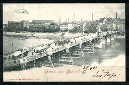 CARTOLINA CV2314 SVIZZERA SWITZERLAND Basilea Gruss Aus Basel, 1901, Viaggiata Per L'Italia, Formato Piccolo, Francoboll - BS Bâle-Ville