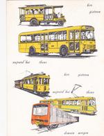 STIB - MIVB - Hier, Aujourd'hui Et Demain - Transport En Commun Bruxellois - Calendrier 1973 - Calendriers