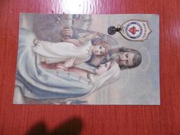 Coeur De Jesus - Espoir Et Salut De La France - (médaille Sur La Carte) - Christianisme