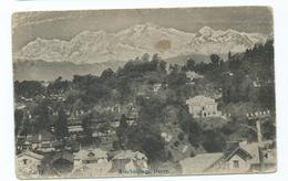 India  Postcard  View Of Darjeeling Kinchinjunga Group  Himalayas Mountains Stamp Gone - Indien