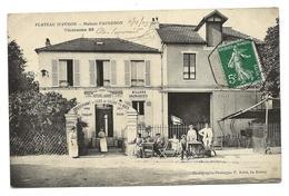 Rare PLATEAU D'AVRON Neuilly Plaisance MAISON FAUGERON   Restaurant Des Voyageurs Belle Animation 2 Scans ......G - Neuilly Plaisance