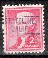 USA Precancel Vorausentwertung Preo, Locals California, Stateline 802 - Vereinigte Staaten