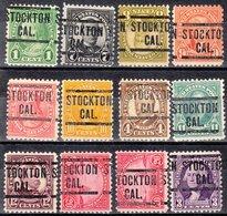 USA Precancel Vorausentwertung Preo, Locals California, Stockton 204, 12 Diff. Perf. 11x10 1/2 - Vereinigte Staaten