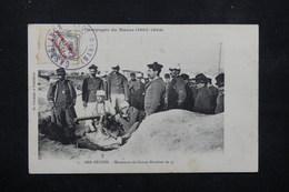 MAROC - Affranchissement De Casablanca Sur Carte Postale ( Ber Rechid , Manœuvre Du Canon Revolver  )  En 1908 - L 22232 - Spanish Morocco
