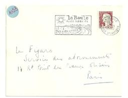 LOIRE ATLANTIQUE - Dépt N° 44 = LA BAULE 1962 = FLAMME Non Codée = SECAP Illustrée ' PLAGE ELEGANTE' - Postmark Collection (Covers)